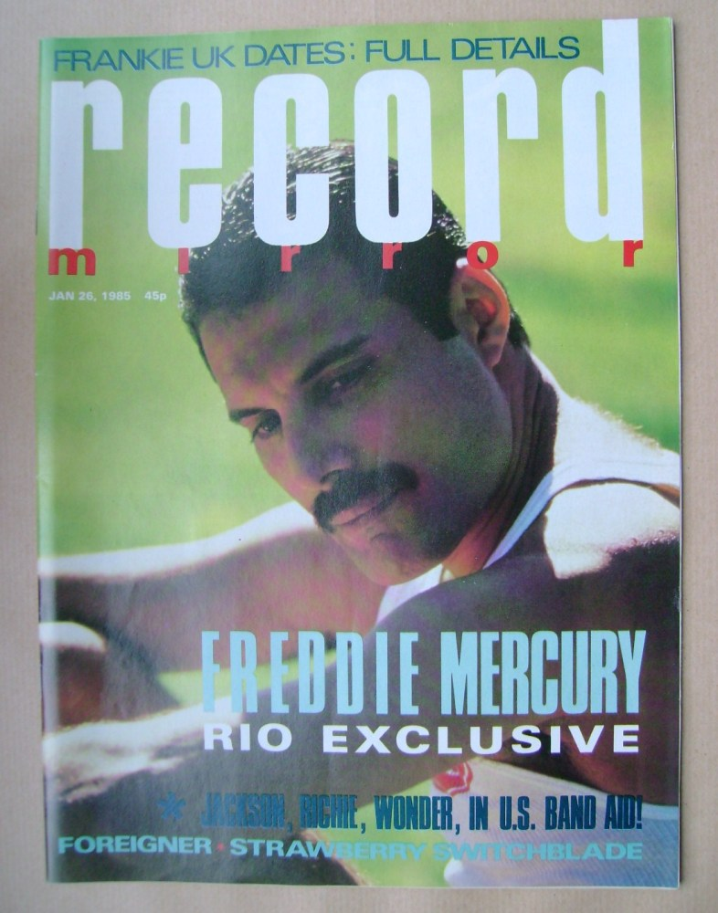 <!--1985-01-26-->Record Mirror magazine - Freddie Mercury cover (26 January