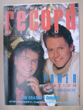 Record Mirror magazine - John Taylor and Robert Palmer cover (16 March 1985)
