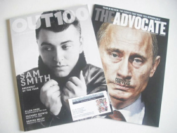 Out magazine - Sam Smith cover (December 2014/January 2015)