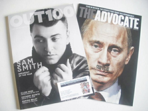 <!--2014-12-->Out magazine - Sam Smith cover (December 2014/January 2015)