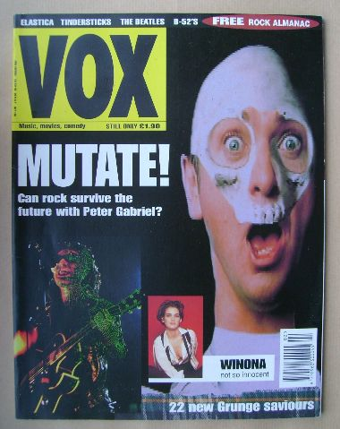 <!--1994-02-->VOX magazine - Peter Gabriel cover (February 1994 - Issue 41)
