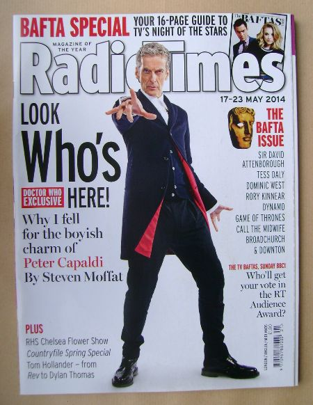 <!--2014-05-17-->Radio Times magazine - Peter Capaldi cover (17-23 May 2014