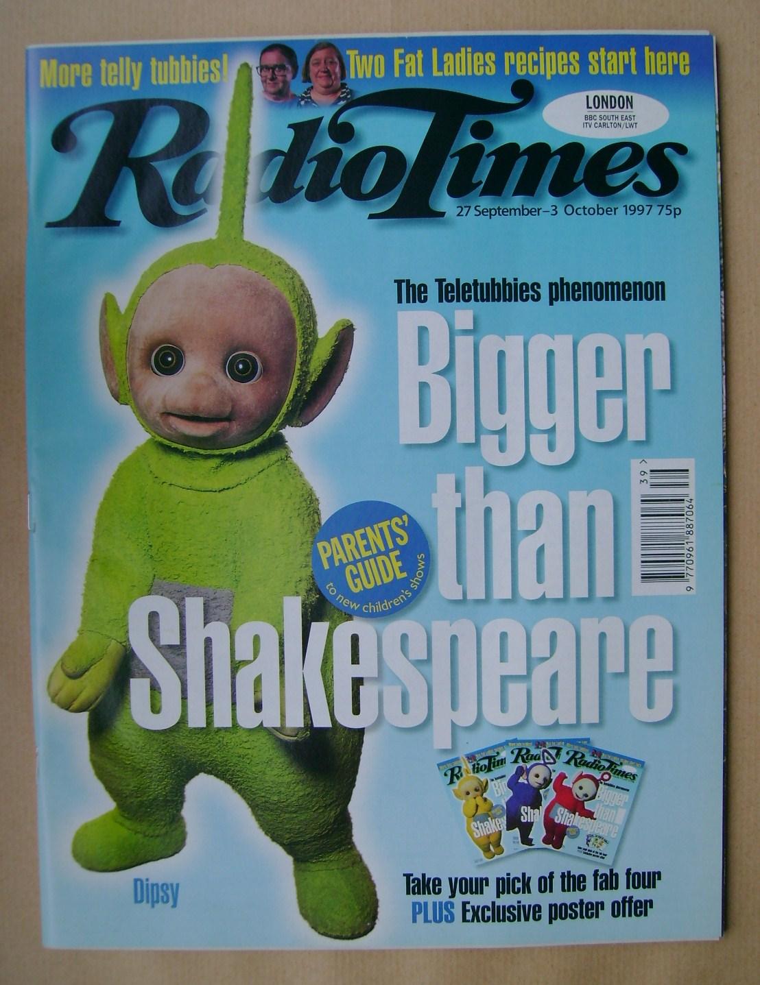 Radio Times Magazine Dipsy Cover 27 September 3 October