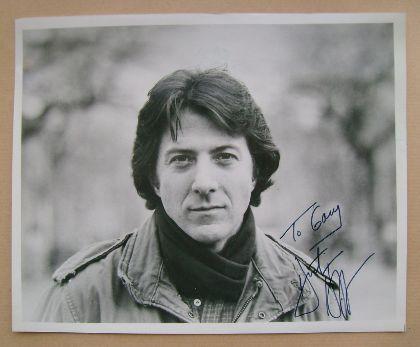 Dustin Hoffman autograph
