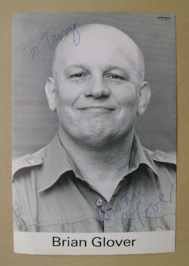 Brian Glover autograph (hand-signed photograph, dedicated)