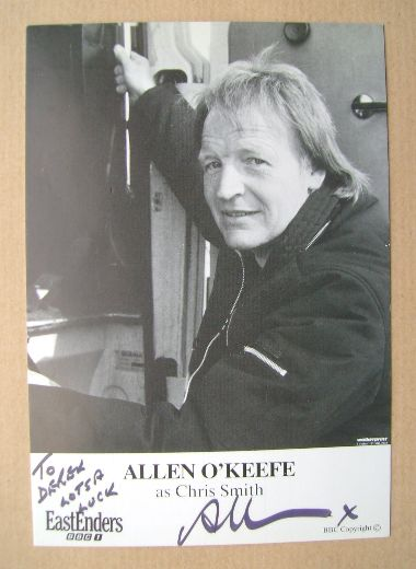 Allen O'Keefe autographed photo (ex-EastEnders actor)