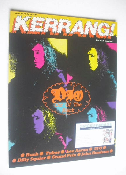 <!--1983-06-17-->Kerrang magazine - Dio cover (17-30 June 1983 - Issue 44)