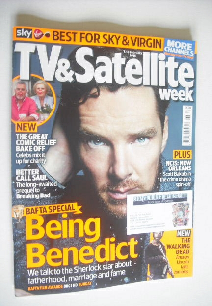 <!--2012-05-26-->TV&Satellite Week magazine - Benedict Cumberbatch cover (2
