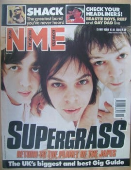 <!--1999-05-15-->NME magazine - Supergrass cover (15 May 1999)