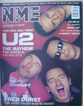 NME magazine - U2 cover (14 October 2000)
