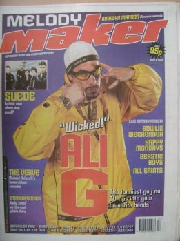 <!--1999-05-01-->Melody Maker magazine - Ali G cover (1 May 1999)
