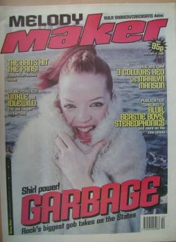 Melody Maker magazine - Shirley Manson cover (16 January 1999)