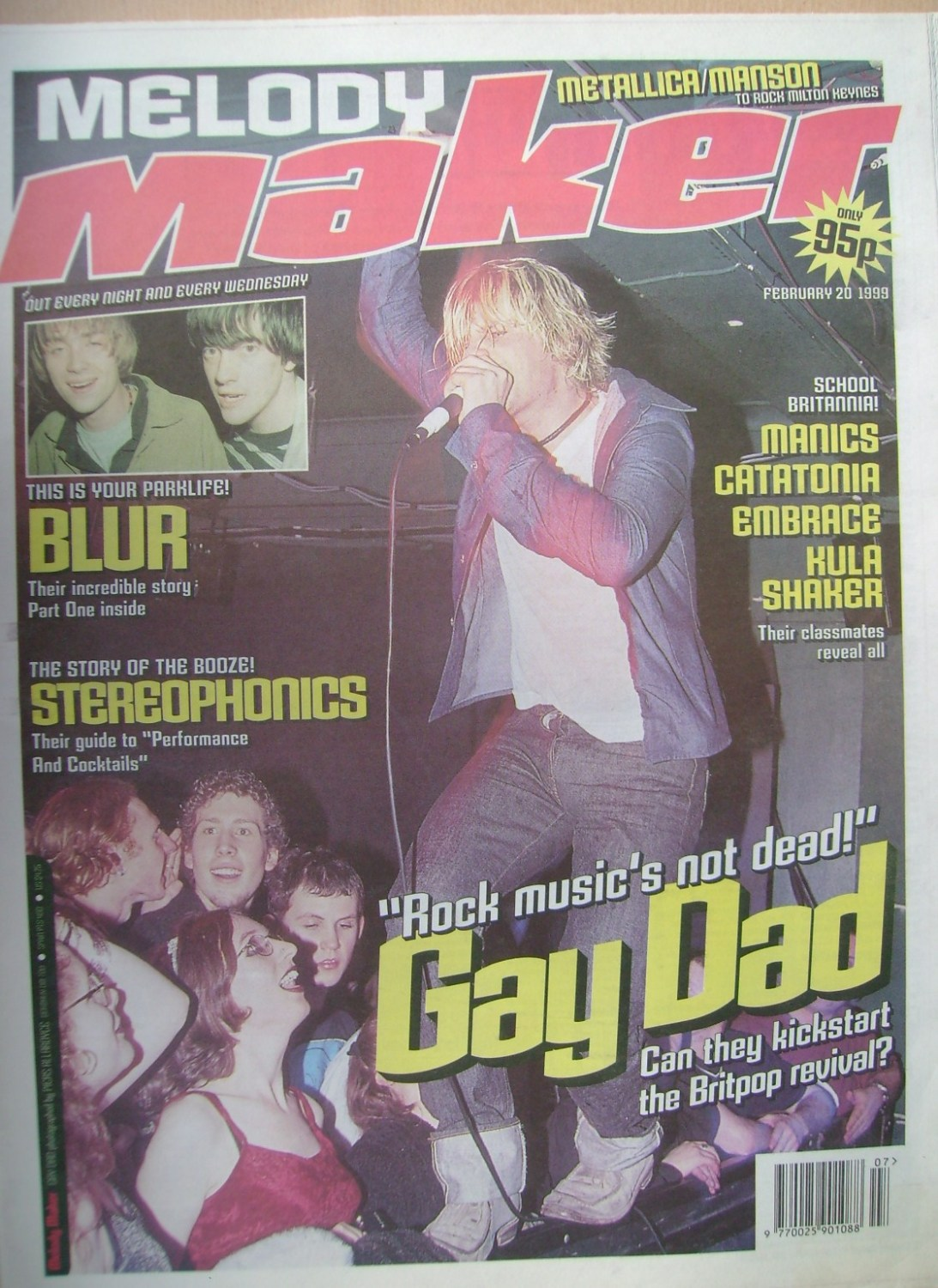 <!--1999-02-20-->Melody Maker magazine - Gay Dad cover (20 February 1999)
