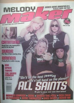 Melody Maker magazine - All Saints cover (10 April 1999)