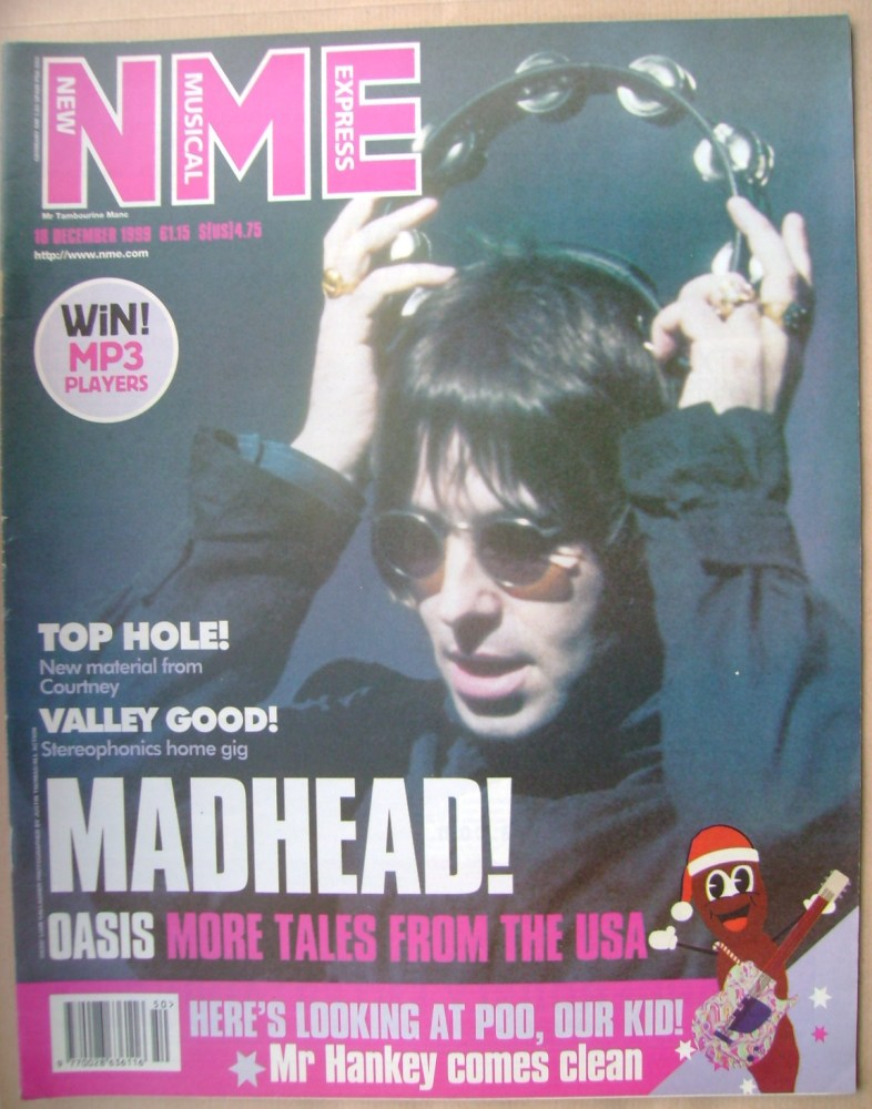 <!--1999-12-18-->NME magazine - Liam Gallagher cover (18 December 1999)