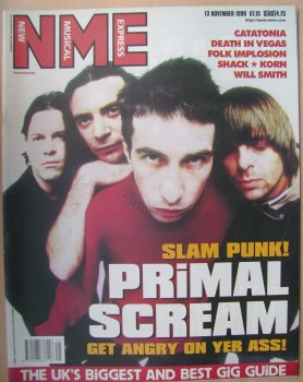NME magazine - Primal Scream cover (13 November 1999)