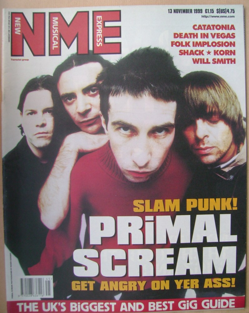<!--1999-11-13-->NME magazine - Primal Scream cover (13 November 1999)