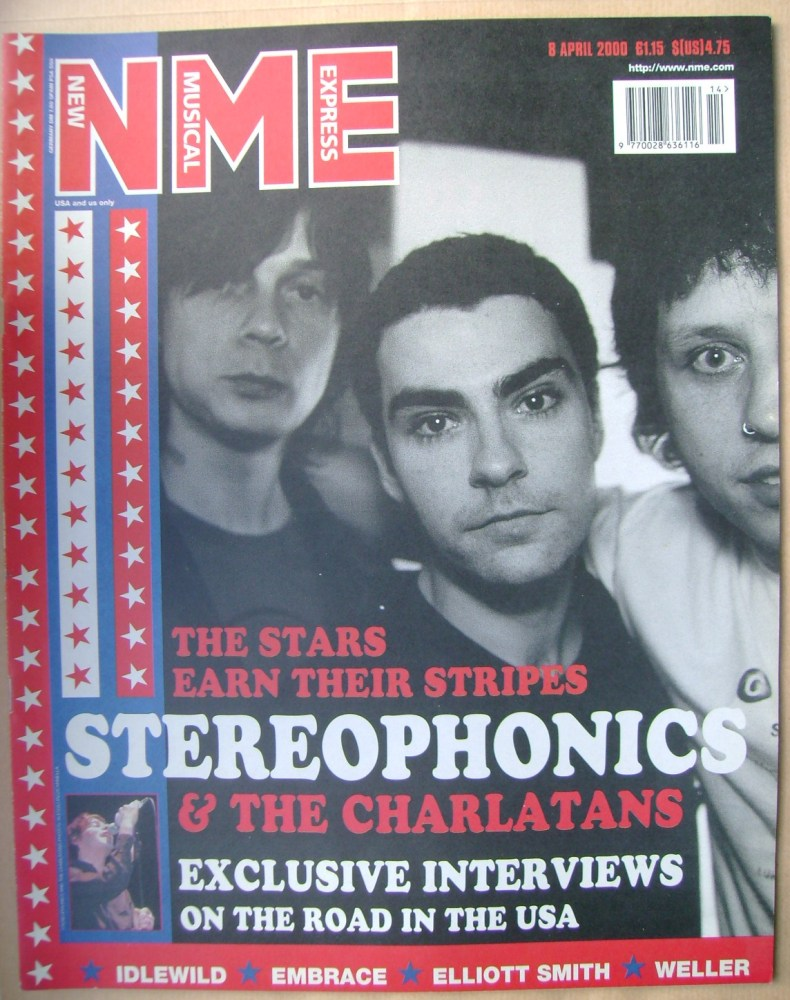 <!--2000-04-08-->NME magazine - Stereophonics cover (8 April 2000)