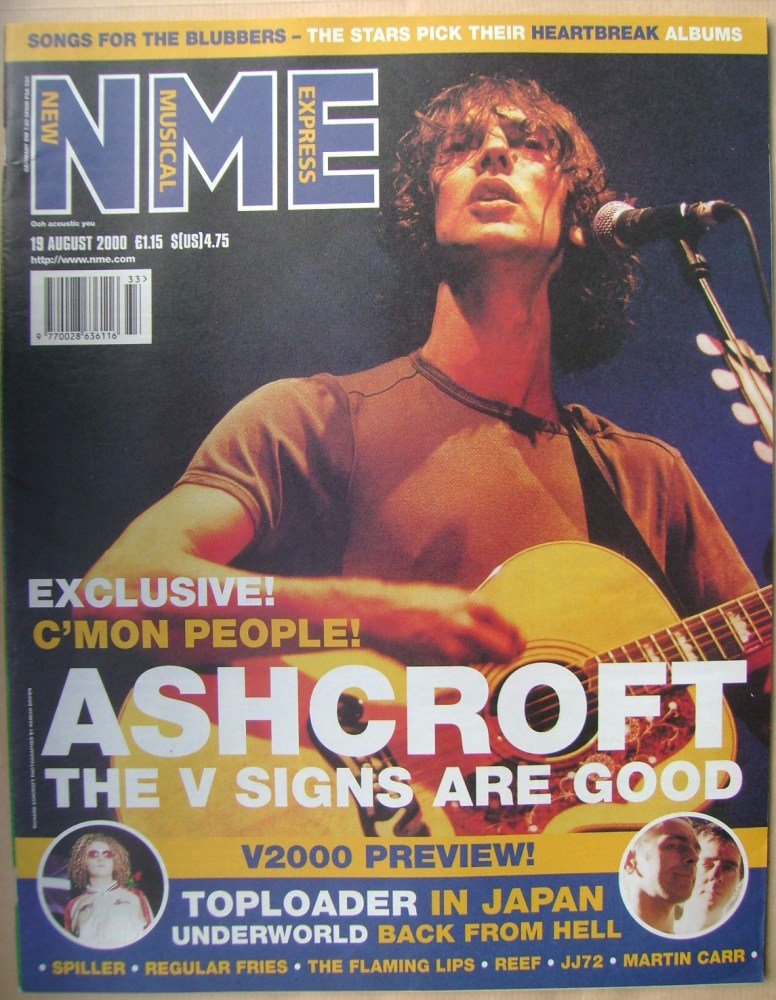 <!--2000-08-19-->NME magazine - Richard Ashcroft cover (19 August 2000)