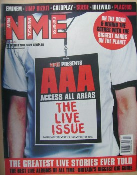 NME magazine - The Live Issue (28 October 2000)