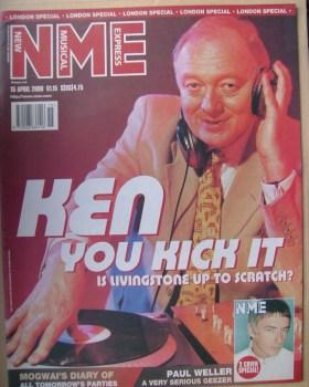 NME magazine - Ken Livingstone cover (15 April 2000)