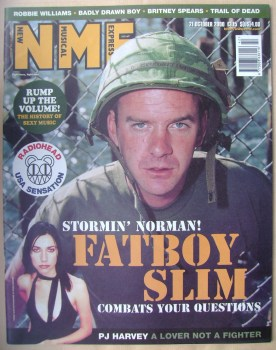 NME magazine - Fatboy Slim cover (21 October 2000)