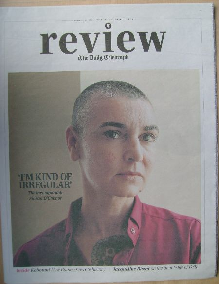 The Daily Telegraph Review newspaper supplement - 2 August 2014 - Sinead O'