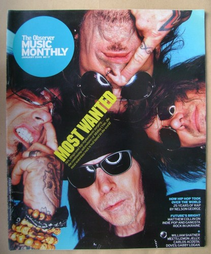 The Observer Music Monthly magazine - January 2005 - Motley Crue cover