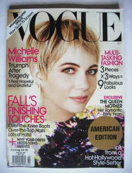 US Vogue magazine - October 2009 - Michelle Williams cover