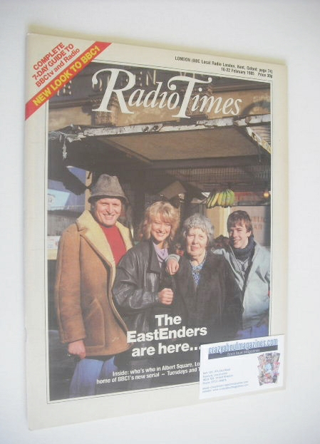 <!--1985-02-16-->Radio Times magazine - The Eastenders Are Here cover (16-2