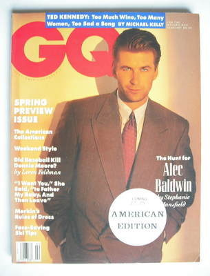 <!--1990-02-->US GQ magazine - February 1990 - Alec Baldwin cover