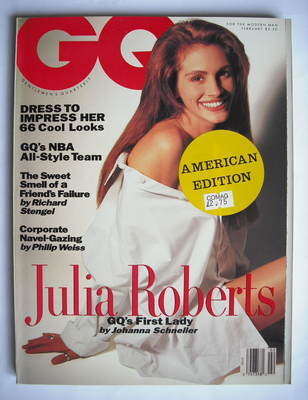 <!--1991-02-->US GQ magazine - February 1991 - Julia Roberts cover