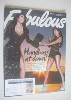Fabulous magazine - Kourtney and Kim Kardashian cover (30 January 2011)