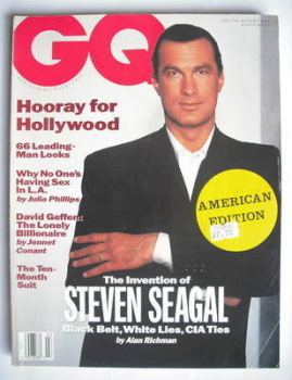 US GQ magazine - March 1991 - Steven Seagal cover