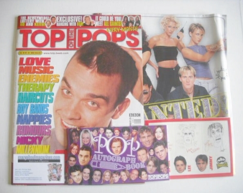 <!--1998-09-->Top Of The Pops magazine - Robbie Williams cover (September 1