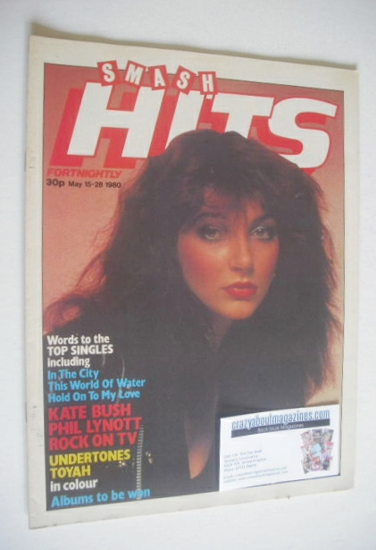 <!--1980-05-15-->Smash Hits magazine - Kate Bush cover (15-28 May 1980)