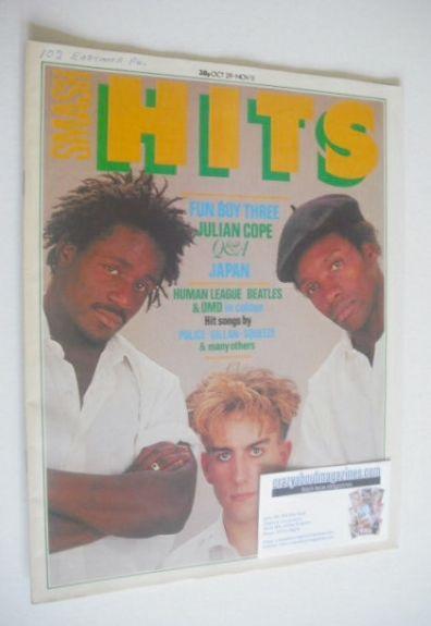<!--1981-10-29-->Smash Hits magazine - Fun Boy Three cover (29 October - 11