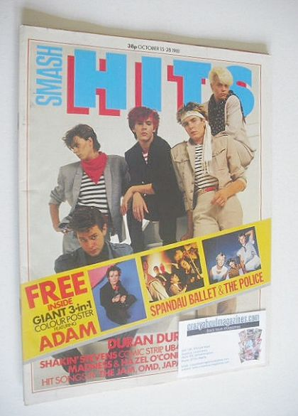 <!--1981-10-15-->Smash Hits magazine - Duran Duran cover (15-28 October 198