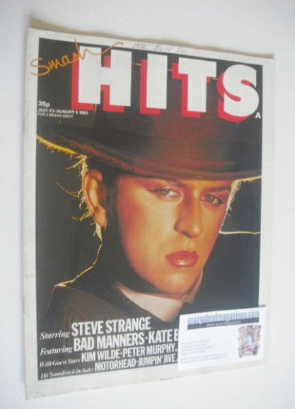 <!--1981-07-23-->Smash Hits magazine - Steve Strange cover (23 July-5 Augus