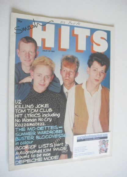 <!--1981-07-09-->Smash Hits magazine - Depeche Mode cover (9-22 July 1981)