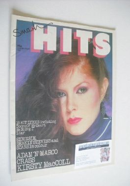 <!--1981-06-25-->Smash Hits magazine - Kirsty MacColl cover (25 June-8 July