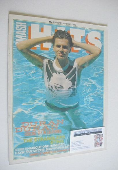<!--1982-08-19-->Smash Hits magazine - John Taylor cover (19 August - 1 Sep