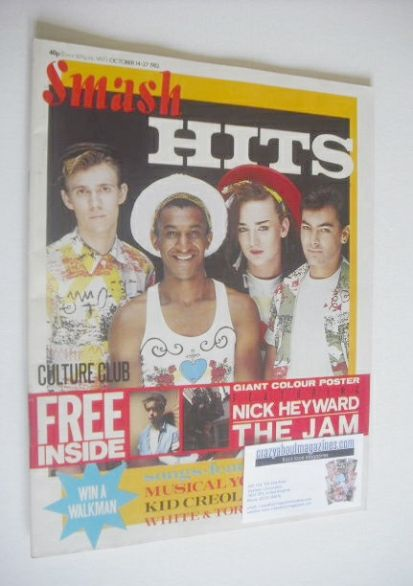 <!--1982-10-14-->Smash Hits magazine - Culture Club cover (14-27 October 19
