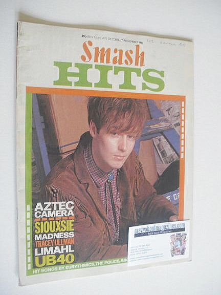 <!--1983-10-27-->Smash Hits magazine - Roddy Frame cover (27 October - 9 No