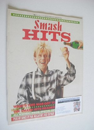 <!--1983-12-22-->Smash Hits magazine - Howard Jones cover (22 December 1983
