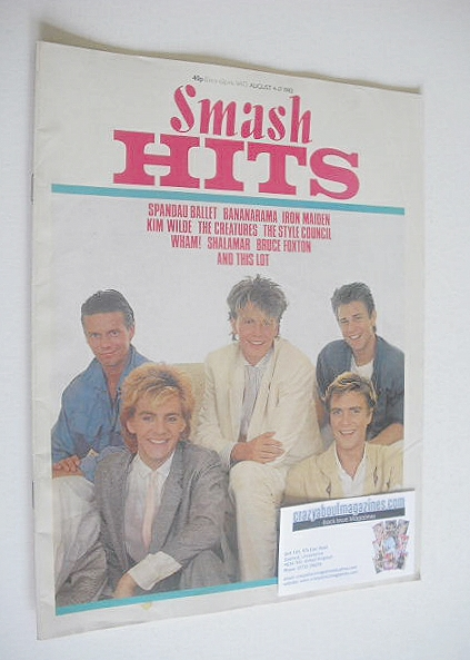 <!--1983-08-04-->Smash Hits magazine - Duran Duran cover (4-17 August 1983)