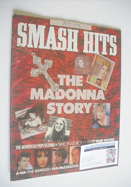 <!--1986-05-21-->Smash Hits magazine - Madonna cover (21 May - 3 June 1986)