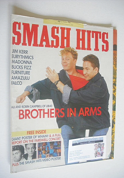 <!--1986-07-02-->Smash Hits magazine - Ali Campbell and Robin Campbell cove