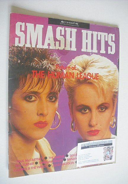 <!--1986-08-13-->Smash Hits magazine - Joanne Catherall and Susan Sulley co