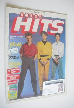 Smash Hits magazine - The Skids cover (1-14 November 1979)